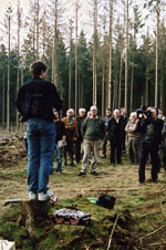 Foredrag om barkbiller. Foto: Søren Fodgaard, Dansk Skovforening.