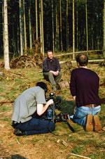 Hans Peter Ravn fortæller om barkbiller. Foto: Søren Fodgaard, Dansk Skovforening.