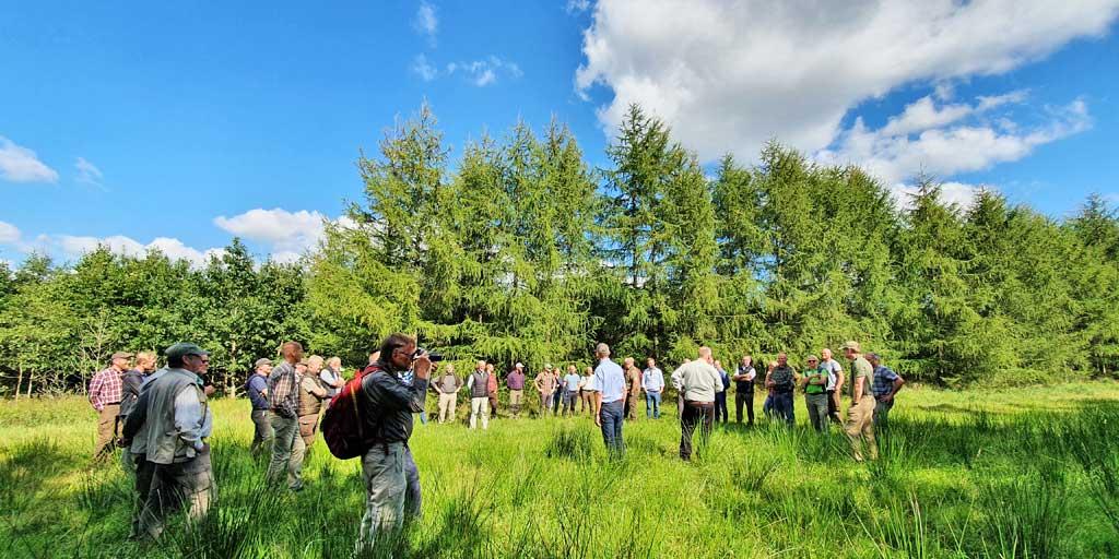 Fromsseier Plantage var vært for Dansk Skovforenings andet debatmøde fremtidens træbiomasse med efterfølgende ekskursion.